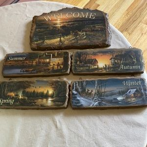 Welcome Display by Terry Redlin. Includes 4 season